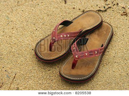 Flip-flops. Sand