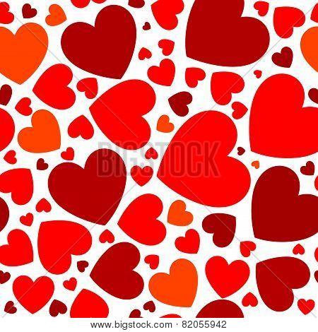 Bright Red Hearts