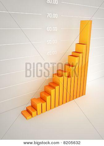 Abstract bar Graph