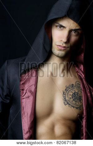 Handsome Man With A Black Hood