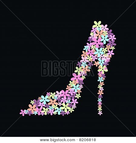 flower high heel
