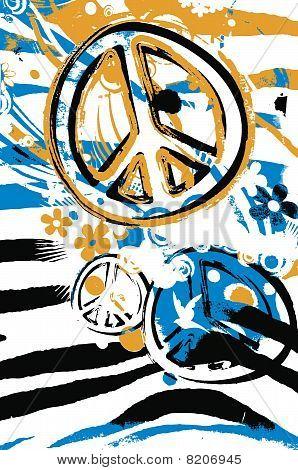 peace symbol poster design