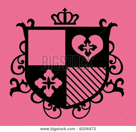 royal emblem shield fraphic