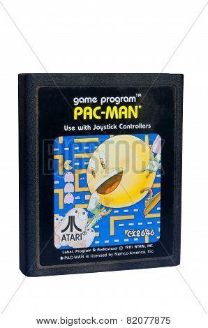 Pac-man Atari 2600 Game Cartiridge