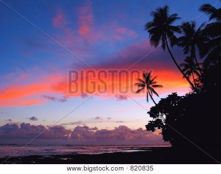 Streak Of Fire Island Sunset