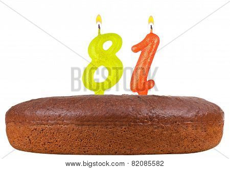 Birthday Cake Candles Number 81 Isolated