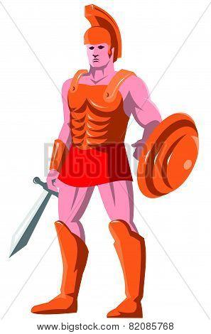 Gladiator Roman Centurion Warrior Standing