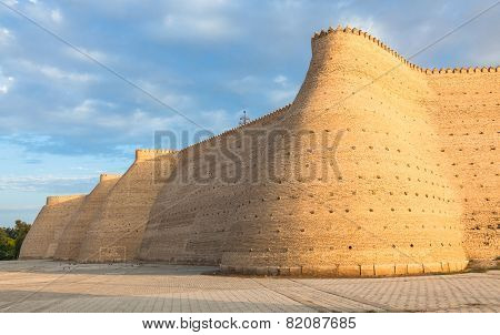 Wall of the Bukhara Fortress (Ark) Uzbekistan