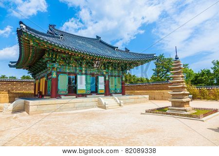 Korean Buddhist Temple complex (Naksansa) in Sokcho, South Korea