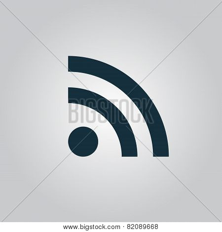 Wi-Fi sign icon, vector illustration. Flat design