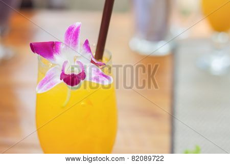 Glass Of Iced Orange Juice