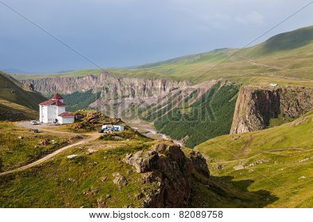 Mountainous Landscape In The Caucasus, Russia
