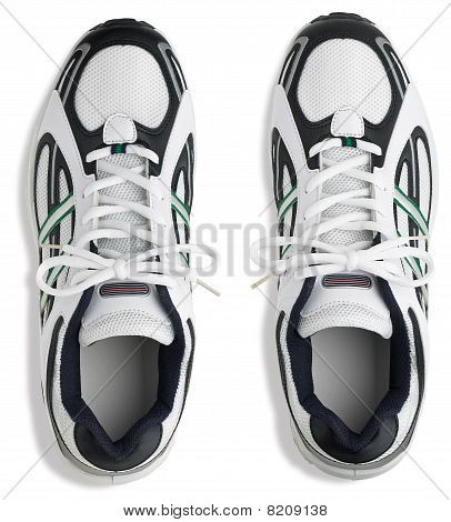 Unbranded Pair Of Running Shoes Trainers On A White Background