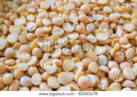Food Background Of Yellow Grain Peas