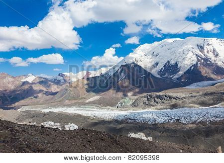 Mountain view in Pamir region Kyrgyzstan
