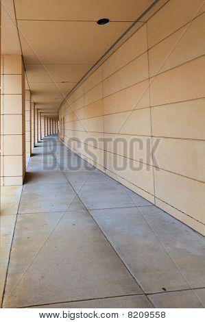 Long Curved Walkway
