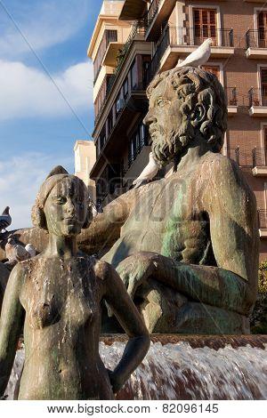 Turia Fountain In Valencia