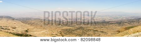 Panoramic view of Beqaa (Bekaa) Valley Baalbeck Lebanon