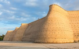 Wall of the Bukhara Fortress (Ark) Uzbekistan