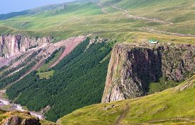 Mountainous Landscape In The Caucasus, Russia