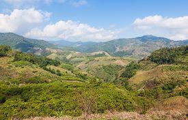 Beautiful mountain view near Mae Salong Northern Thailand.
