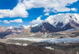 Mountain view in Pamir region Kyrgyzstan