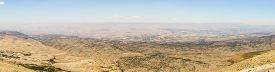 Panoramic view of Beqaa (Bekaa) Valley Baalbeck Lebanon