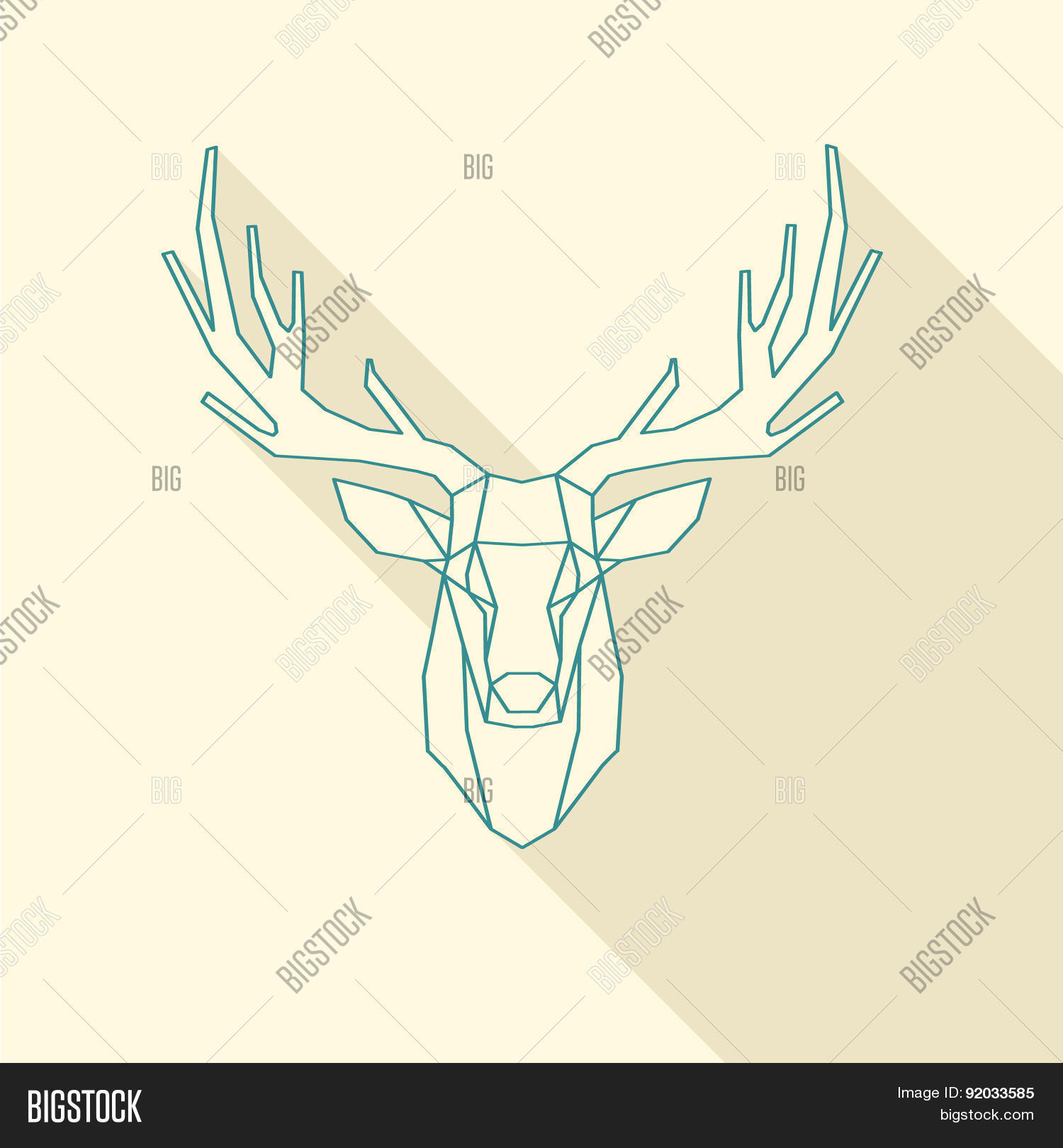 Deer Frame Vector & Photo (Free Trial) | Bigstock