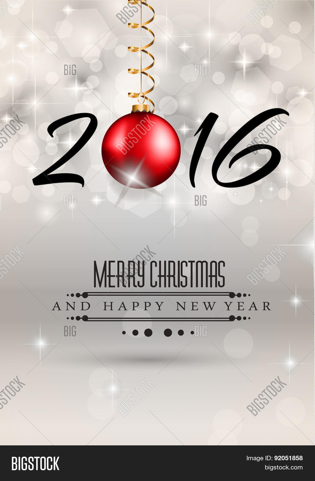 2016 merry chrstmas and happy new year background for your dinner invitations festive posters