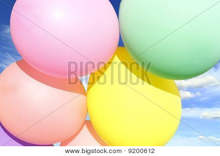 Colored Inflatable Balls