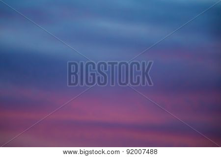 Purple and blue sunset background