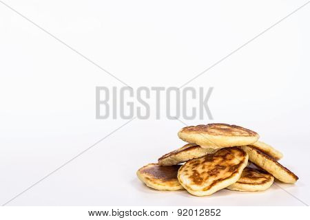 pancake - several pancake taken in natural light isolated on white background