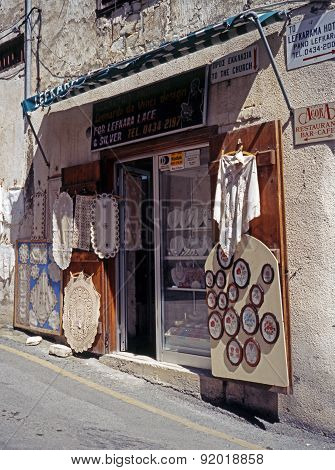 Lace shop, Cyprus.