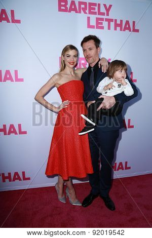 LOS ANGELES - MAY 27:  Jaime King, Kyle Newman, James Knight Newman at the