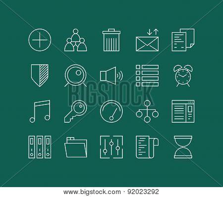 Various Elements Line Icons Set