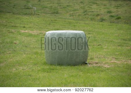 Bale Of Straw Into Plastic #4