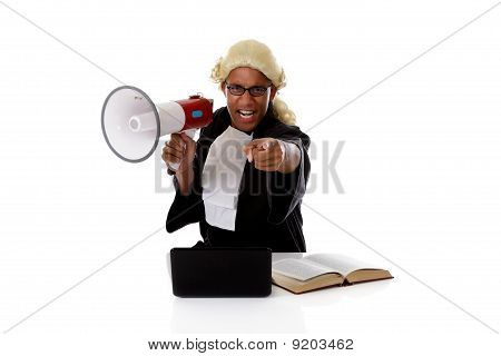 Young American Judge Man, Accusing