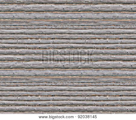 Wooden Blockhouse Wall Seamless Background
