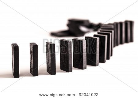 Dominoes In A Line