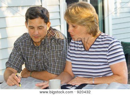 Couple Doing Bible Study