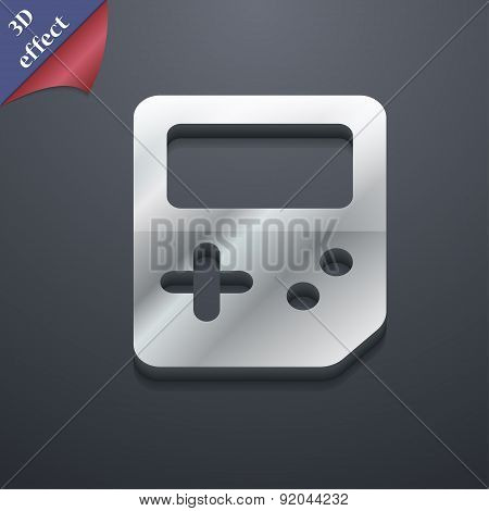 Tetris Icon Symbol. 3D Style. Trendy, Modern Design With Space For Your Text Vector