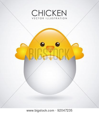 Birdie design over white background vector illustration