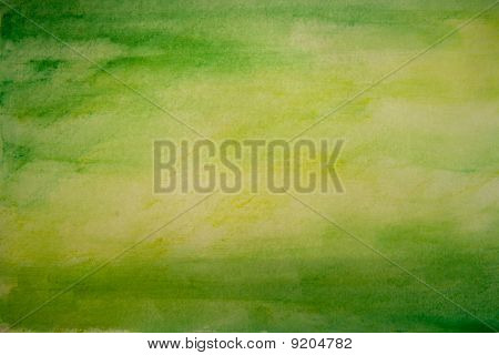 Green Watercolor Paint Texture