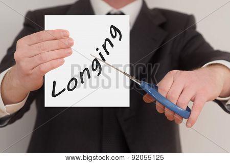 Longing, Determined Man Healing Bad Emotions