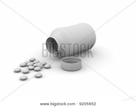 box and pills