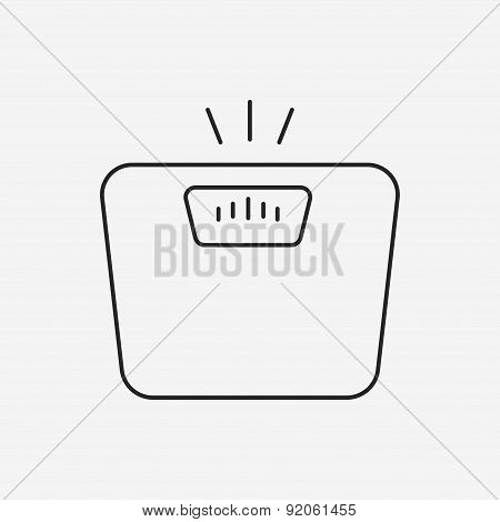 Weighing Machine Line Icon