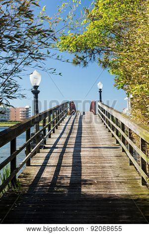 Walkway To Island Off Ocean City, Maryland