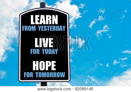 Learn, Live, Hope