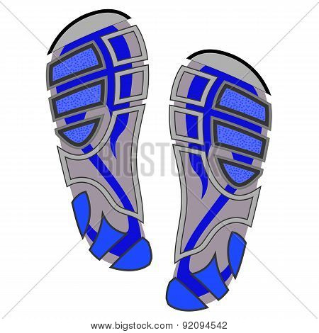Clean  Sport Shoe Imprints Isolated on White Background poster