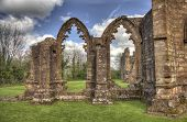 HDR shot of the South view of Lincluden Collegiate Church (also know as Priory or Abbey) in Dumfries. poster